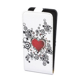 Forcell Slim Flip Pattern for Sony C1905 Xperia M Vertical Case Colourfull Design 3