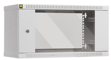 Netrack Wall Cabinet 19'' 6U/450mm Glass Grey