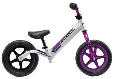 """Vaikiškas dviratis Scool PedeX Race Light 10"""" Silver Purple"""