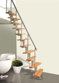 Atrium Staircase Mini Plus Alder/Silver