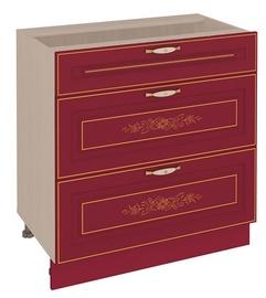 DaVita Viktorija 20.67 Kitchen Bottom Cabinet Astrid Pine/Bordeaux