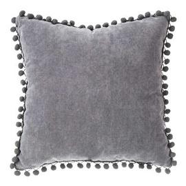 Декоративная подушка JJA Pompom 131656L, серый, 400 мм x 400 мм