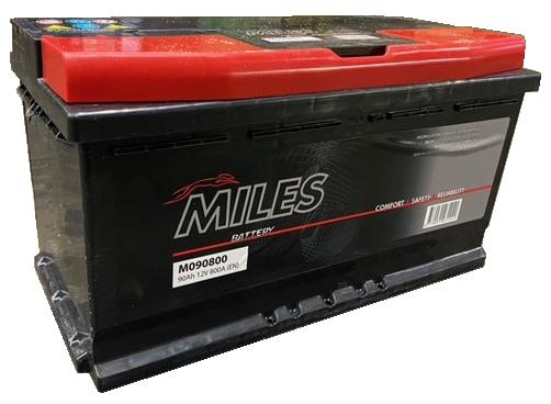 Аккумулятор Miles M090800, 12 В, 90 Ач, 800 а