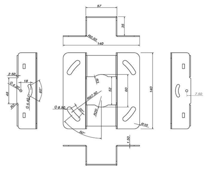 Multibrackets Universal Projector Ceiling Mount