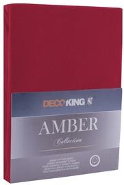 Palags DecoKing Amber, ķiršu, 90x200 cm, ar gumiju