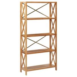 Полка VLX Solid Oak Wood, коричневый, 80 см x 30 см x 163.5 см