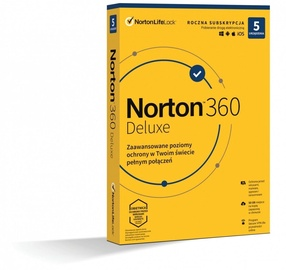 Norton 360 Delux 50GB PL 1-User 5-Devices 1-Year