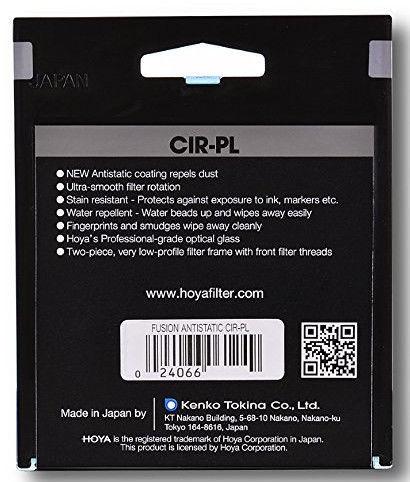 Hoya Fusion Antistatic CIR-PL Filter 72mm