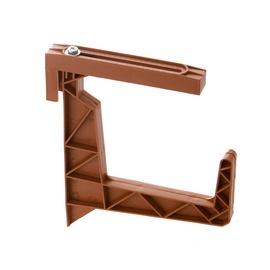Plastikinis lovinių vazonų laikiklis Uniplastex, rudas