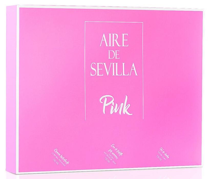 Набор для женщин Instituto Español Aire De Sevilla Pink 3pcs Set 450 ml EDT