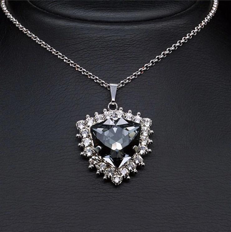 Diamond Sky Pendant Viola With Swarovski Crystals