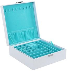 Ehtekarp Songmics Jewelery Box, valge/helesinine