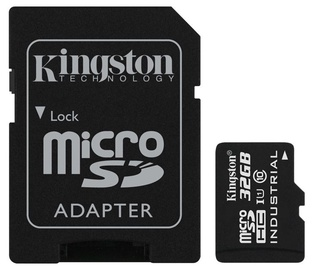 Kingston 32GB microSDHC UHS-I Class 10 Industrial Temperature Card + SD Adapter