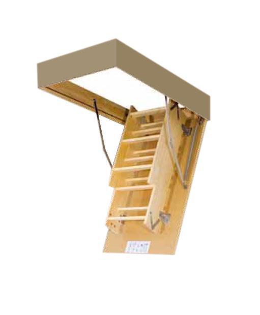 Išlankstomieji laiptai Fakro, 70x120/280 cm