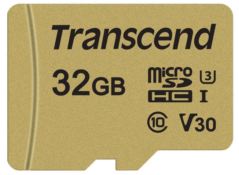 Transcend MicroSDHC 32GB CL10 UHS-I U3 Up to 95MB/S + Adapter