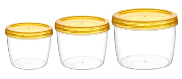 Galicja Food Container Set 3pcs Yellow