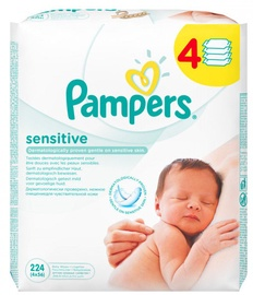 Pampers Sensitive Wipes 4x56pcs