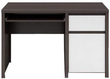 Black Red White Desk Kaspian BIU1D1S/120 Wenge/White