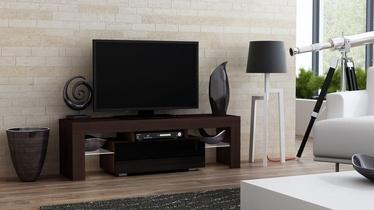 TV-laud Pro Meble Milano 130 Wenge/Black, 1300x350x450 mm