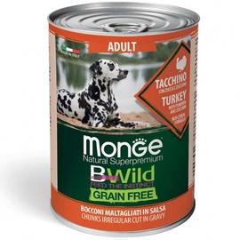 Влажный корм для собак Monge BWild Adult Chunkies In Gravy Turkey With Pumpkin And Zucchini, 0.4 кг