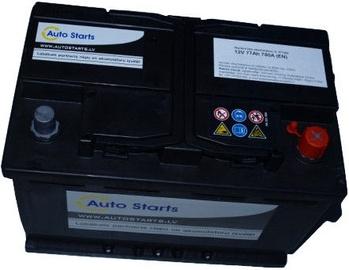 Аккумулятор Auto Starts, 12 В, 77 Ач, 760 а