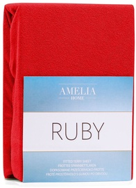 AmeliaHome Ruby Frote Bedsheet 120-140x200 Red 24