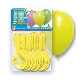 SN Balloons Yellow 12pcs 5106-02