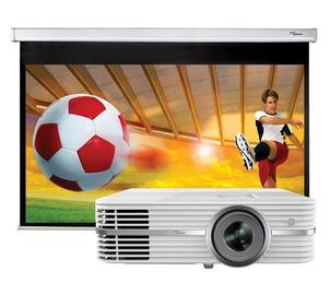 Optoma UHD300X + 92-Inch Projector Screen Bundle