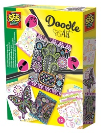 SES Creative Doodle Art Colouring Cards 14013