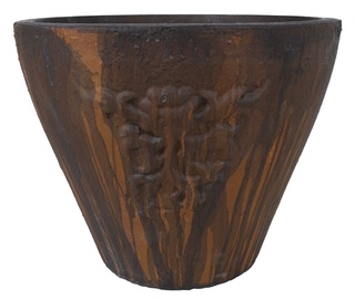 Home4you Lava Flower Pot Dark Brown 33cm