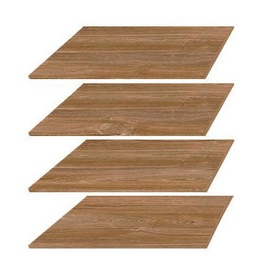 Black Red White Gent Wardrobe Shelves 4pcs Stirling Oak