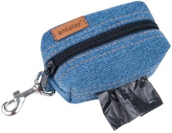 Amiplay Denim Waste Bags Dispenser Blue