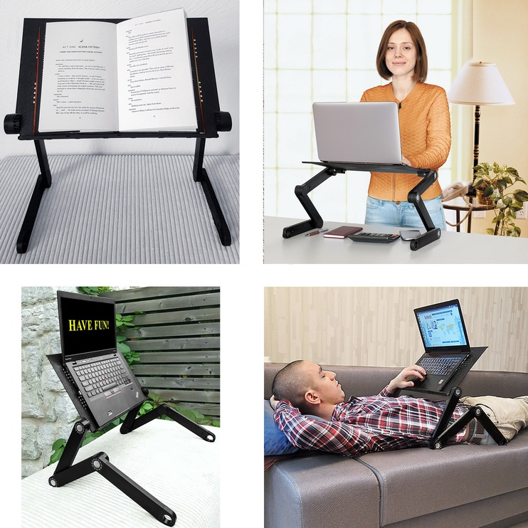 WonderWorker Newton Folding Laptop Table Black