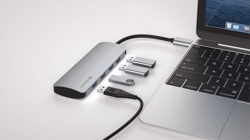 USB-разветвитель (USB-hub) Swissten USB-C Hub 4in1 SW-USBC-USB-4X-3.0