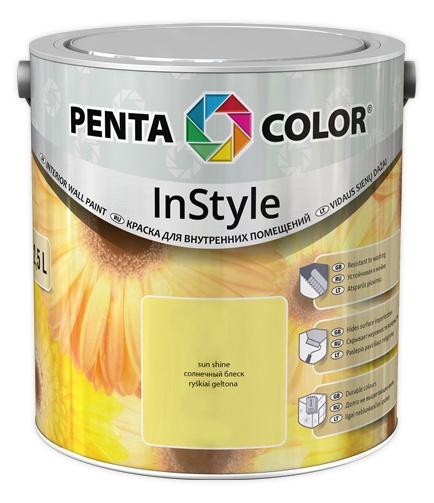 Krāsa Pentacolor in style gaiši dzeltena 2,5l
