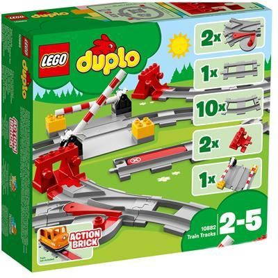 Конструктор LEGO Duplo Рельсы 10882, 23 шт.