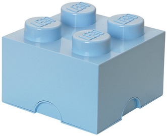 LEGO Storage Brick 4 Knobs Medium Light Blue