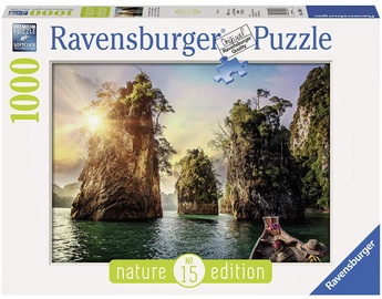 Dėlionė Ravensburger Three Rocks In Cheow Thailand 13968, 1000 dalių