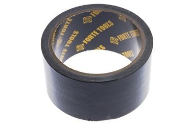 Lipnioji audinio juosta Forte Tools, 10 m x 50 mm, juoda