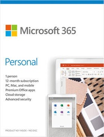 Microsoft Office 365 Personal Retail 1-Year Estonian License Medialess
