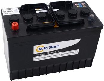 Аккумулятор Auto Starts Left, 12 В, 110 Ач, 680 а