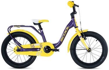 "Scool niXe Alloy 16"" Purple/Yellow"