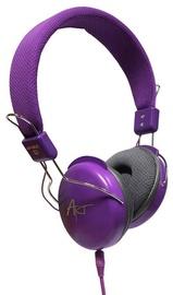 Ausinės ART AP-60C Multimedia Headphones Violet