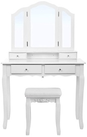 Kosmētikas galds Songmics White, 90x40x145 cm, with mirror