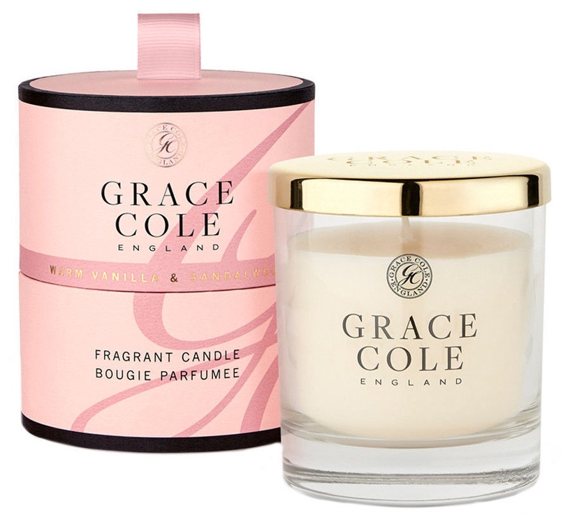Grace Cole Fragrant Candle 200g Warm Vanilla & Sandalwood