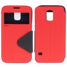 Roar Fancy Diary S-View Book Case For Samsung G928 Galaxy S6 Edge+ Red/Blue