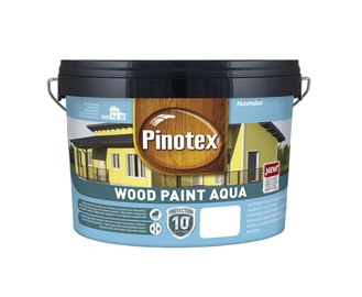 Emulsiniai dažai Pinotex Wood Paint Aqua, švediška raudona, 9 l