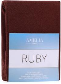 Palags AmeliaHome Ruby, brūna, 200x200 cm, ar gumiju