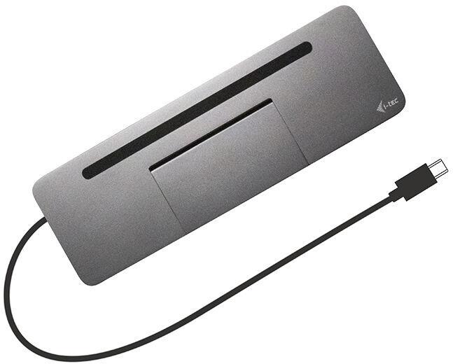 i-Tec USB-C Metal Ergonomic 4K 3x Display Docking Station With Power Delivery 85 W + Universal Charger 112 W