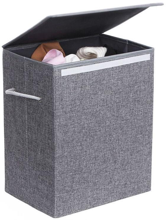 Ящик для белья Songmics Laundry Basket Grey 40x30x50cm
